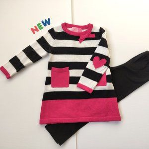 ❤️NWT❤️Sweet Striped Sweater & Leggings Outfit sz5